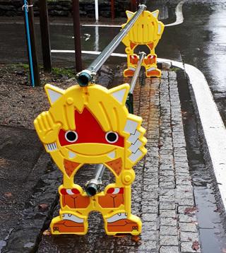 秋田の工事現場用のバリケード