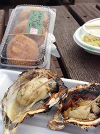 宮島SAで焼き牡蠣とフライケーキ