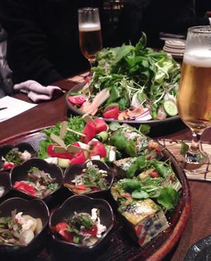 花様の野菜たっぷり前菜