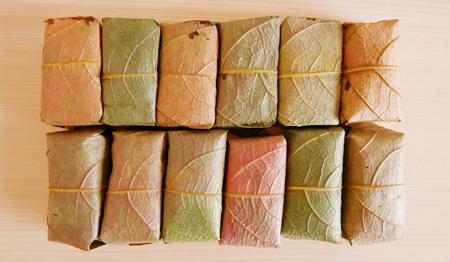 松屋の紅葉柿の葉寿司