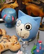 某ネコ型ロボット的置物