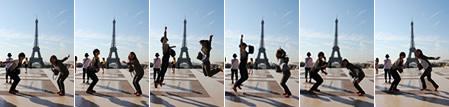 エッフェル塔でジャンプ!