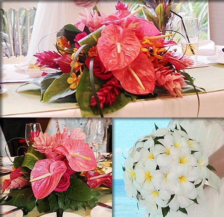 お花は南国仕様