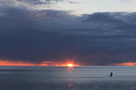 タモンビーチの夕陽