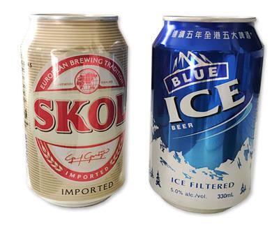 香港の缶ビール