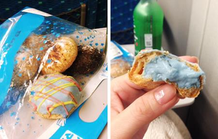 Baby Magicの青いシュークリーム