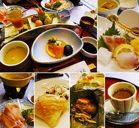 嬉野温泉「ホテル華翠苑」の料理