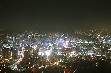 Nソウルタワーからの夜景