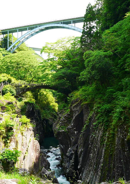高千穂峡 三段橋